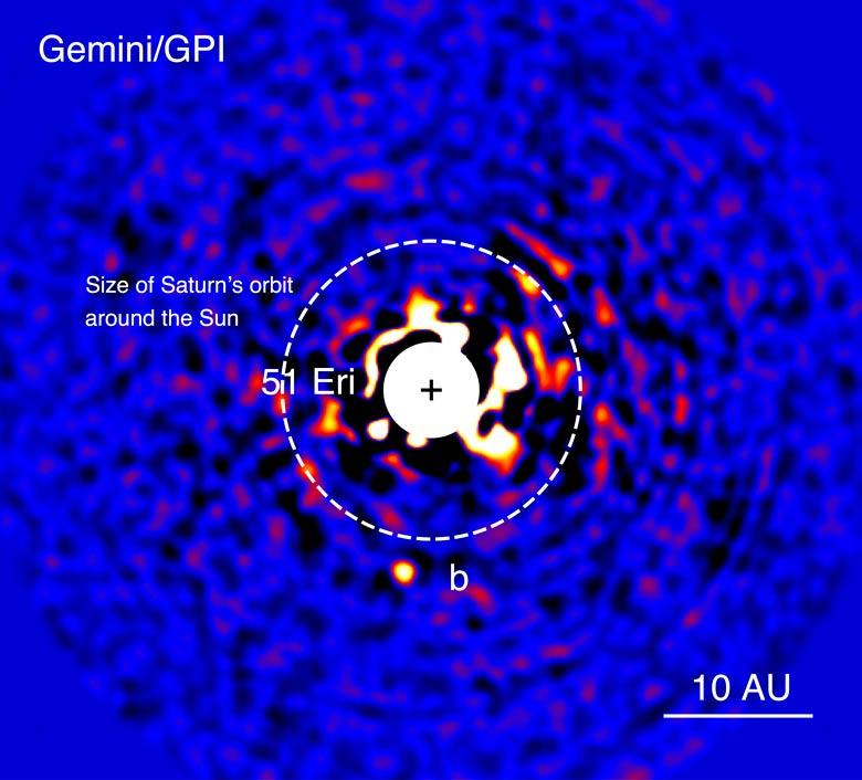Astronomen ontdekken 'jonge Jupiter', 51 Eridani b