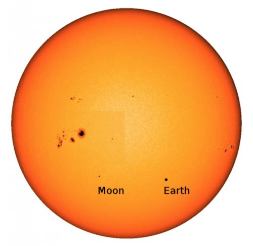Zo zag de overgang van de aarde en de maan er op 5 januari 2014 uit, gezien vanaf Jupiter