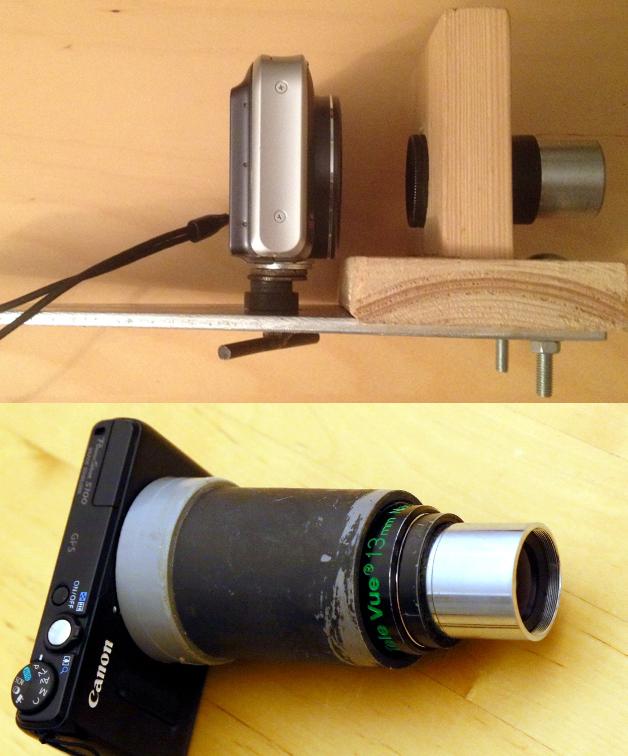 Boven: mijn 'plankje' Onder: een elegante oplossing met een stuk PVC pijp dat met vilt klemmend gemaakt is.