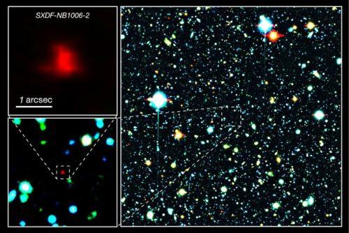 Samengestelde kleurenfoto van een deel van het Subaru XMM-Newton Deep Survey Field