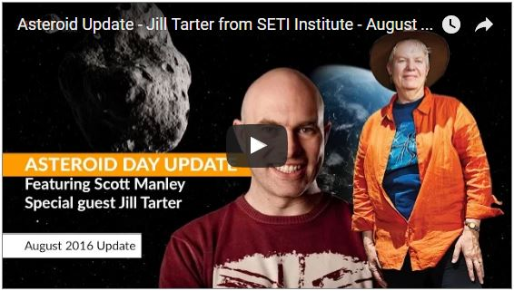 Asteroid Update - Jill Tarter from SETI Institute - August 2016