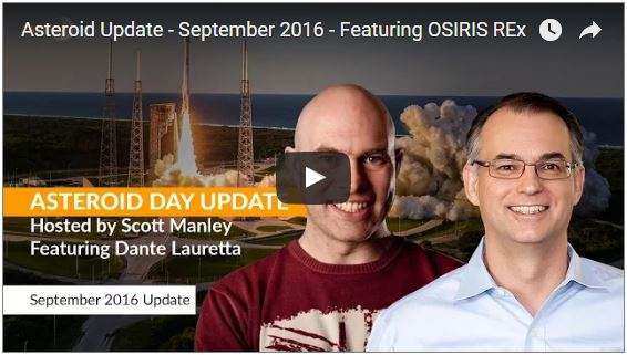 Asteroid Update - September 2016 - Featuring OSIRIS REx