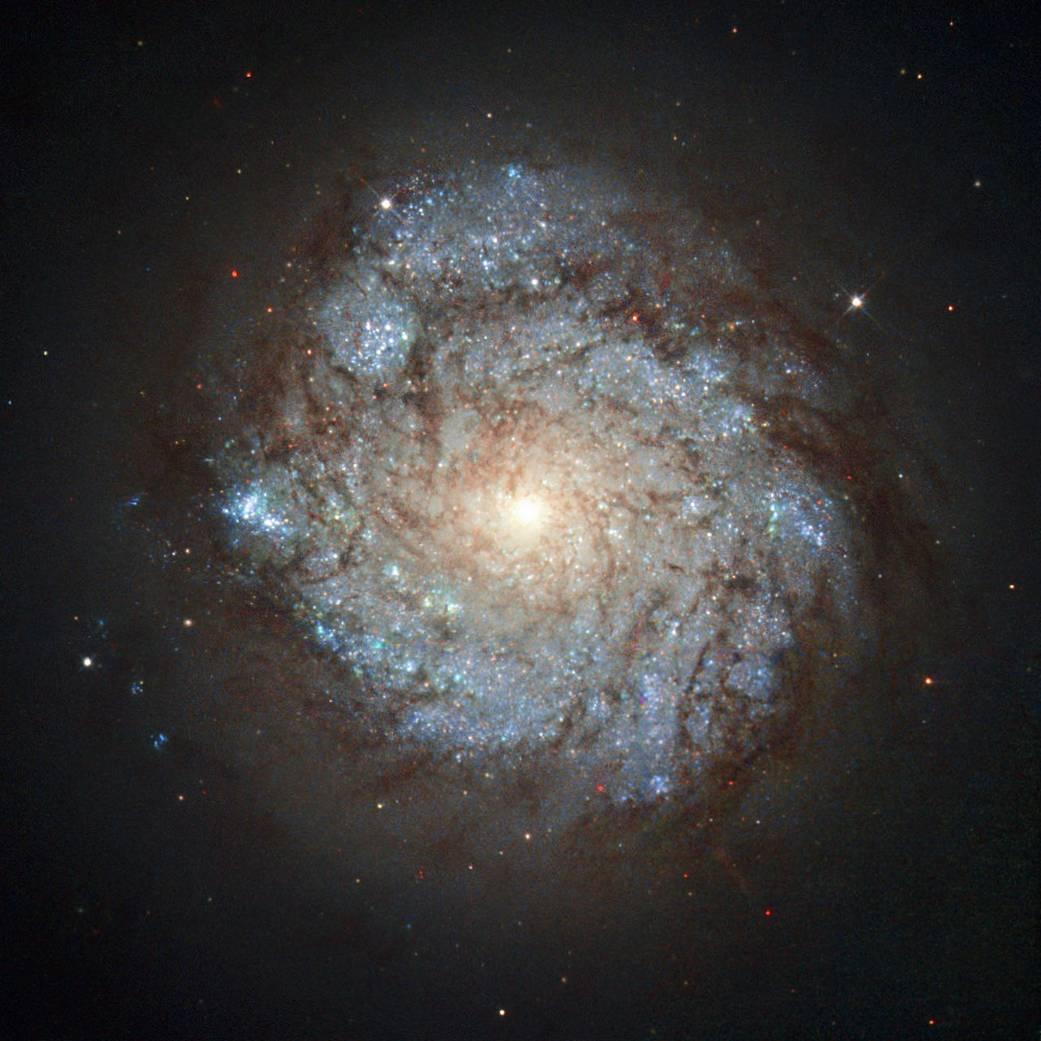 Hubble ziet de nucleaire ring van NGC 278 in Cassiopeia