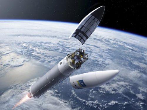 Illustration du vol VA 233 Ariane 5 ES avec les Galileo